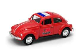 Volkswagen  - Beetle 1963 red/white - 1:64 - Welly - welly52222FR | The Diecast Company