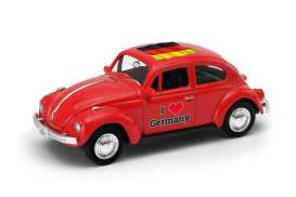 Volkswagen  - Beetle 1963 red/white - 1:64 - Welly - welly52222GE | The Diecast Company