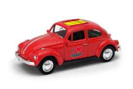 Volkswagen  - Beetle 1963 red/white - 1:64 - Welly - 52222SP - welly52222SP | The Diecast Company