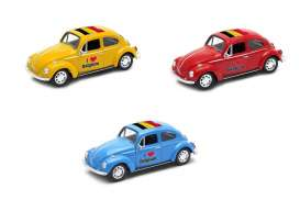Volkswagen  - Beetle 1963 various - 1:34 - Welly - 42343BEL - welly42343BEL | The Diecast Company