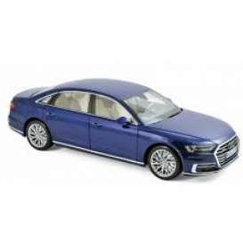 Audi  - A8 L 2017 blue metallic - 1:18 - Norev - nor188365 | The Diecast Company