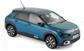 Citroen  - C4 Cactus 2018 blue - 1:18 - Norev - nor181660 | The Diecast Company