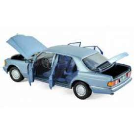 Mercedes Benz  - 560 SEL 1990 pearl blue - 1:18 - Norev - 183464 - nor183464 | The Diecast Company