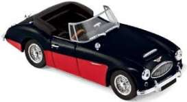 Austin  - Healey 3000 MK3 1964 black/red - 1:43 - Norev - 070014 - nor070014 | The Diecast Company
