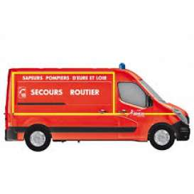 Renault  - Master Pompiers *Secours Routi 2014 red - 1:43 - Norev - nor518783 | The Diecast Company