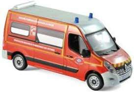 Renault  - Master Pompiers *VSAV* 2014 red/grey - 1:43 - Norev - 518784 - nor518784 | The Diecast Company
