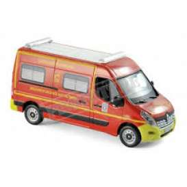 Renault  - Master Pompiers *VSAV* 2014 red/yellow - 1:43 - Norev - 518785 - nor518785 | The Diecast Company