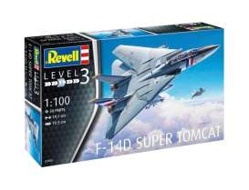 Grumman Aerospace  - F-14D Super Tomcat  - 1:100 - Revell - Germany - 63950 - revell63950 | The Diecast Company