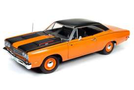 Plymouth  - Road Runner 1969 orange/black - 1:18 - Auto World - AMM1131 | The Diecast Company