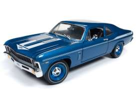 Chevrolet  - Nova Yenko Coupe 1969 Lemans blue - 1:18 - Auto World - AMM1135 | The Diecast Company