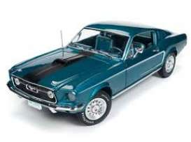 Ford  - Mustang 2+2 1968 gulfstream - 1:18 - Auto World - AMM1132 | The Diecast Company