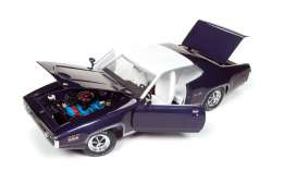 Plymouth  - Satellite Sebring PLus 1971 violet poly/white - 1:18 - Auto World - AMM1146 | The Diecast Company