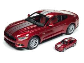 Ford  - Mustang GT 2017 red/grey - 1:18 - Auto World - 245 - AW245 | The Diecast Company