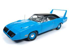 Plymouth  - Superbird 1970 petty blue - 1:18 - Auto World - AMM1137 | The Diecast Company