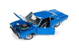 Plymouth  - 1968 blue/black - 1:18 - Auto World - AMM1125 | The Diecast Company