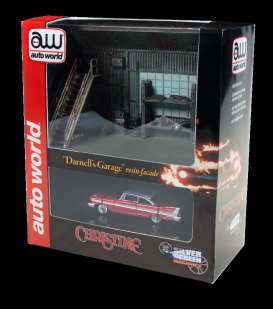 Plymouth  - Fury *Christine* 1958 red/white - 1:64 - Auto World - AWSD001 | The Diecast Company