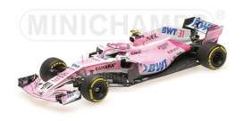 Force India Mercedes Benz - VJM11 2018 pink - 1:43 - Minichamps - 417180031 - mc417180031 | The Diecast Company