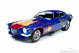 Chevrolet  - Camaro funny car 1972 blue/yellow - 1:18 - Auto World - 1180 - AW1180 | The Diecast Company