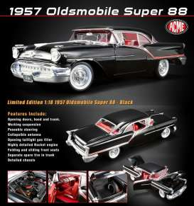 Oldsmobile  - 88 1957 black - 1:18 - Acme Diecast - acme1808004 | The Diecast Company