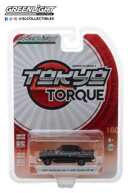 Nissan  - Skyline 2000 GT-R 1969 black - 1:64 - GreenLight - 47010A - gl47010A | The Diecast Company