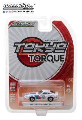 Datsun  - 240Z 1970 white/red/blue - 1:64 - GreenLight - 47010B - gl47010B | The Diecast Company