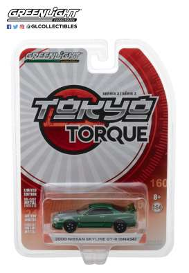 Nissan  - Skyline GT-R R34 2000 green - 1:64 - GreenLight - 47010F - gl47010F | The Diecast Company