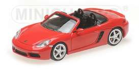 Porsche  - 718 Boxter 2016 red - 1:87 - Minichamps - 870065130 - mc870065130 | The Diecast Company