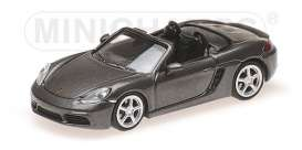 Porsche  - 718 Boxter 2016 grey - 1:87 - Minichamps - 870065131 - mc870065131 | The Diecast Company