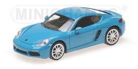 Porsche  - 718 Cayman 2016 turqoise/blue - 1:87 - Minichamps - 870065220 - mc870065220 | The Diecast Company