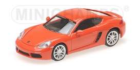 Porsche  - 718 Cayman 2016 orange - 1:87 - Minichamps - 870065221 - mc870065221 | The Diecast Company