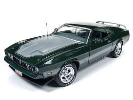 Ford  - Mustang Mach I 1973 dark green - 1:18 - Auto World - AMM1144 | The Diecast Company