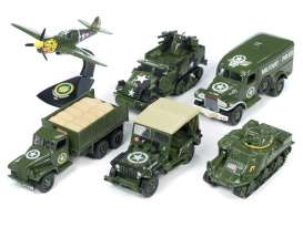 Assortment/ Mix  - army green - 1:64 - Auto World - ML001A - AWML001A | The Diecast Company