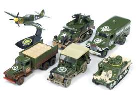 Assortment/ Mix  - army green - 1:64 - Auto World - AWML001B | The Diecast Company
