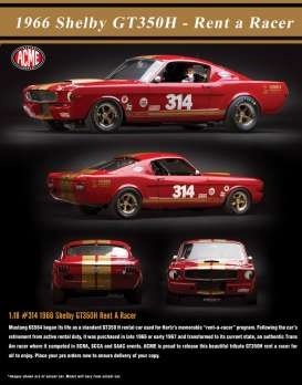 Shelby  - GT 350H 1966 red/gold - 1:18 - Acme Diecast - acme1801823 | The Diecast Company