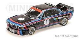 BMW  - 3.0 CSL 1974 black/red/blue - 1:18 - Minichamps - 155742691 - mc155742691 | The Diecast Company