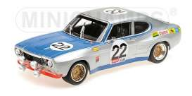 Ford  - RS 2600 1971 silver/blue - 1:18 - Minichamps - mc155718522 | The Diecast Company