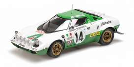 Lancia  - Stratos 1975 white/green - 1:18 - Minichamps - mc155751714 | The Diecast Company