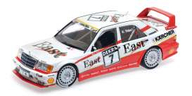 Mercedes Benz  - 190E 1991 white/red - 1:18 - Minichamps - mc155913607 | The Diecast Company