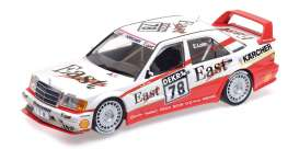 Mercedes Benz  - 190E 1991 white/red - 1:18 - Minichamps - 155913678 - mc155913678 | The Diecast Company