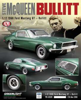 Ford  - Mustang GT *Bullitt* 1968 green - 1:12 - Acme Diecast - US011 - GTUS011 | The Diecast Company