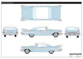 Plymouth  - Fury 1958 light blue/white - 1:18 - Motor Max - 73115b - mmax73115b | The Diecast Company