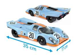 Porsche  - 917 1970 blue - 1:12 - Norev - nor127500 | The Diecast Company