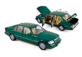 Mercedes Benz  - S600 1997 green - 1:18 - Norev - 183593 - nor183593 | The Diecast Company