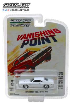 Dodge  - Challenger R/T *Vanishing Poin 1970 white - 1:64 - GreenLight - 44820A - gl44820A | The Diecast Company