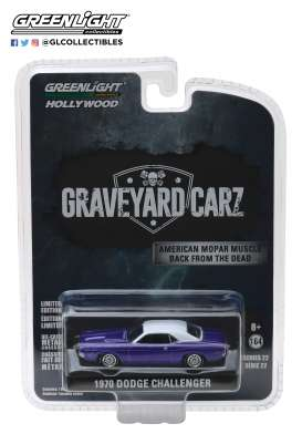 Dodge  - Challenger R/T 1970 purple/white - 1:64 - GreenLight - 44820F - gl44820F | The Diecast Company
