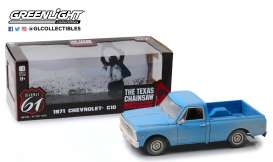 Chevrolet  - C10 *Texas Chain Saw Massacre* 1974 blue - 1:18 - Highway 61 - hwy18014 - hwy18014 | The Diecast Company