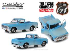 Chevrolet  - C10 *Texas Chain Saw Massacre* 1974 blue - 1:18 - Highway 61 - HWY18014 | The Diecast Company