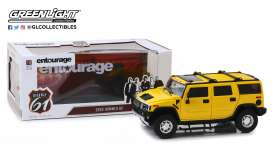 Hummer  - H2 *Entourage* 2003 yellow - 1:18 - Highway 61 - hwy18015 | The Diecast Company