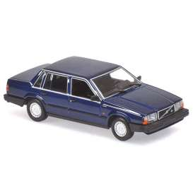 Volvo  - 740 GL 1986 dark blue - 1:18 - Minichamps - 155171701 - mc155171701 | The Diecast Company