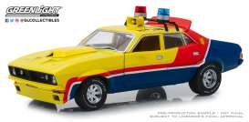 Ford  - XB Falcon V8 Interceptor 1973 yellow/blue/red - 1:18 - GreenLight - 18012 - gl18012 | The Diecast Company